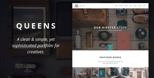 Queens v1.0 – Creative One-page Drupal Theme