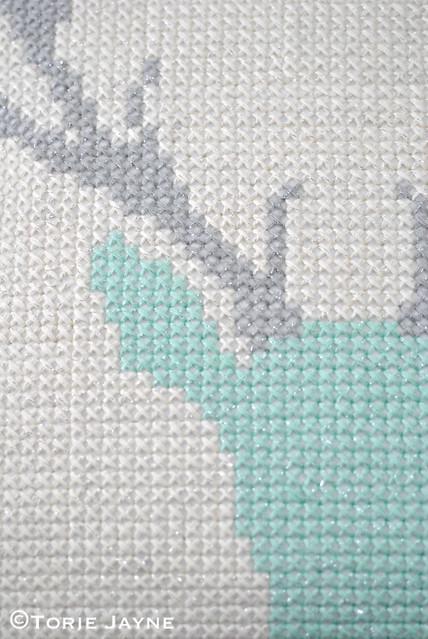 DIY cross stitch cushion 3
