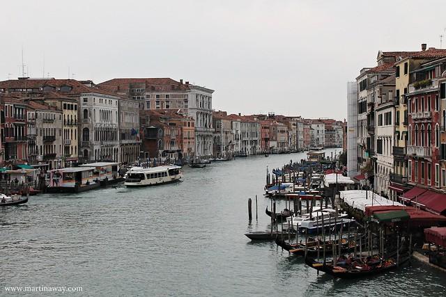 Canal Grande visto dal Ponte di Rialto