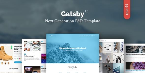 Gatsby – Creative Multipurpose PSD Template