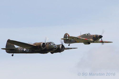 Bristol Blenheim and Hawker Hurricane