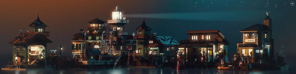Sea Front Village night
