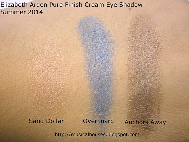 Elizabeth Arden Pure Finish Cream Eye Shadow Swatches