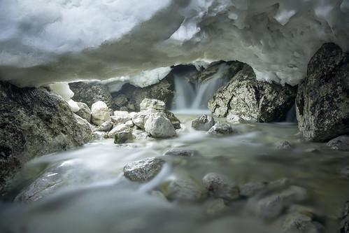 longexposure light snow ice rock night waterfall stream nocturnal glacier led slovenia cave beneath logarska dolina meltwater savinja savinjska yahoo:yourpictures=yourbest2014image