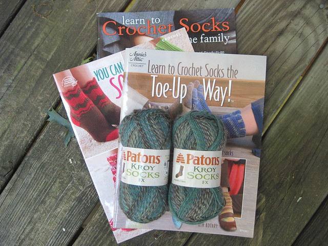 Getting ready for some sock crocheting