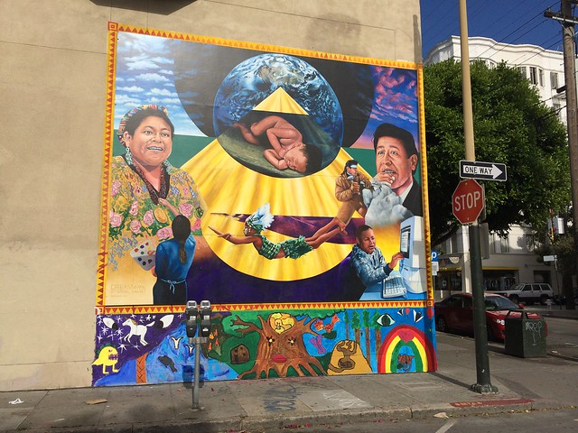 Hispanic themed mural