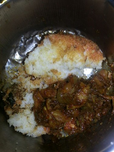 Potti Curry / Olarthiyathu served with Chiratta Puttu