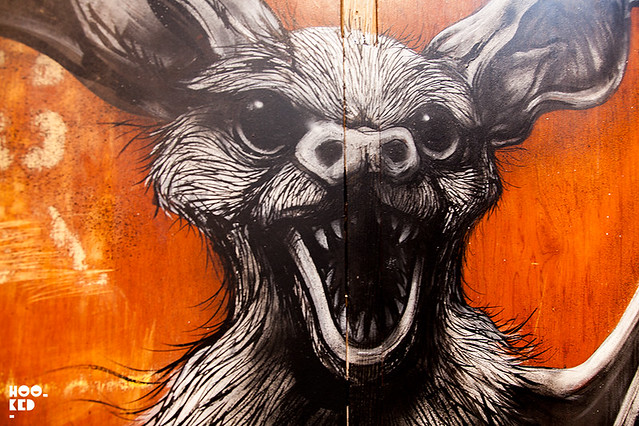 ROA Bat at the 'PROJECTUM 06' Installation at Stolen Space London.