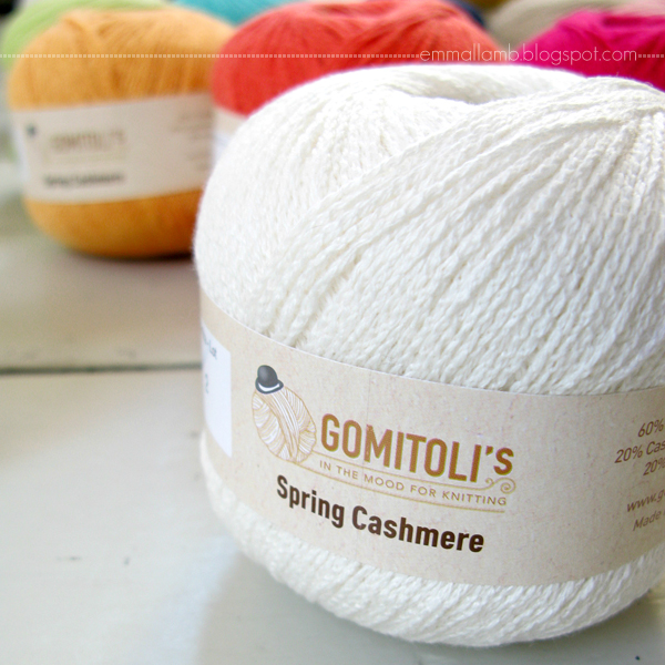 delicious yarns : an exciting new project in the works / Luxury Spring Cashmere from Italian yarn company Gomitoli's | Emma Lamb
