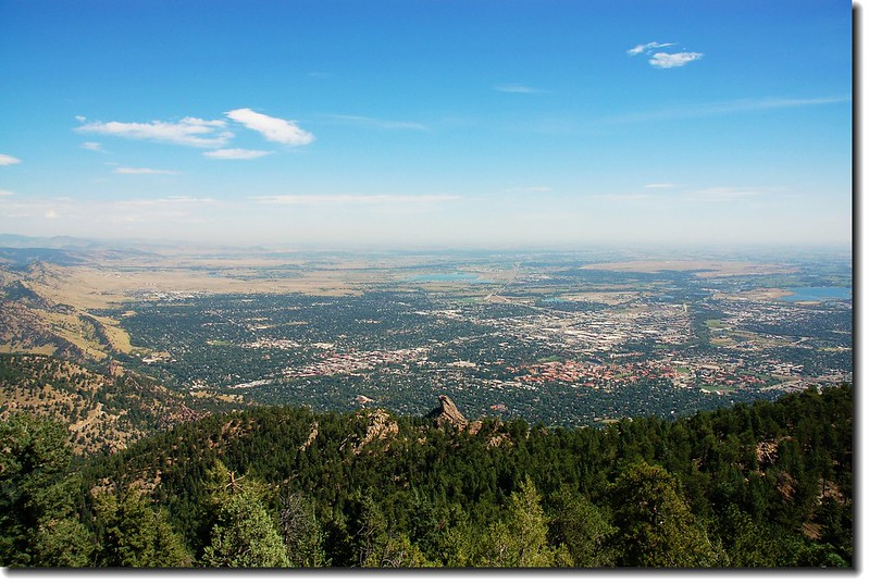 Overlooking Boulder downtown from Green's summit 1