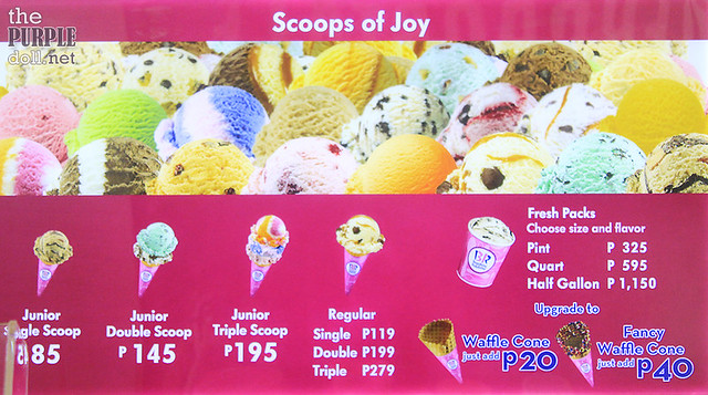 Baskin Robbins Ice Cream Price Manila