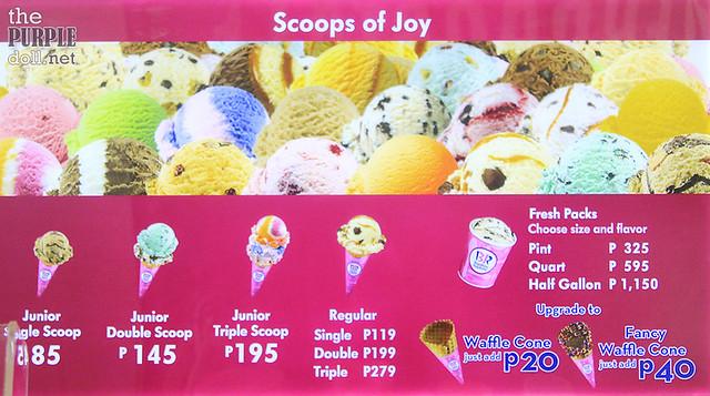 Baskin Robbins Ice Cream Price Manila