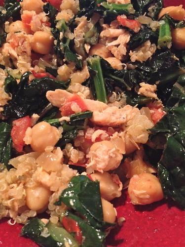 Salmon - Kale Quinoa Bowl