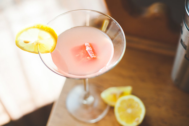 Watermelon lemon cocktail