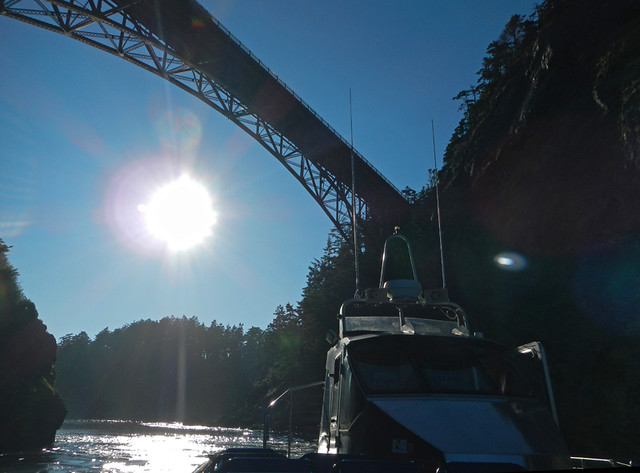 Under the Bridge on the Deception Pass Boat Tour
