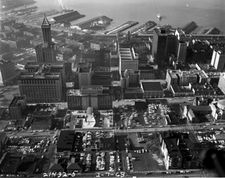 Aerial of south downtown, 1963
