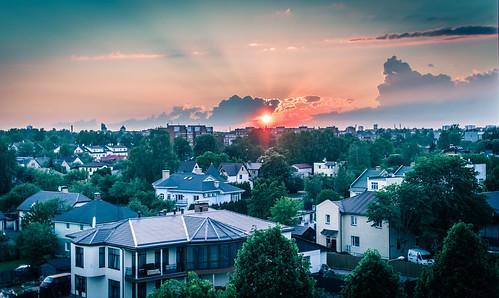sunset summer urban holidays may latvia riga vasara 2014 latvija urbansunset plavnieki maijs rigasunset