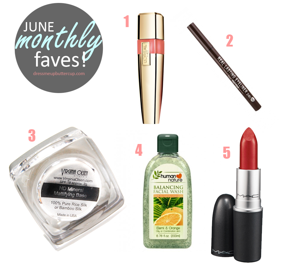 June Monthly Beauty Favorites
