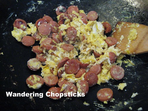 Fried Rice with Hot Dogs, Eggs, and Ketchup 6