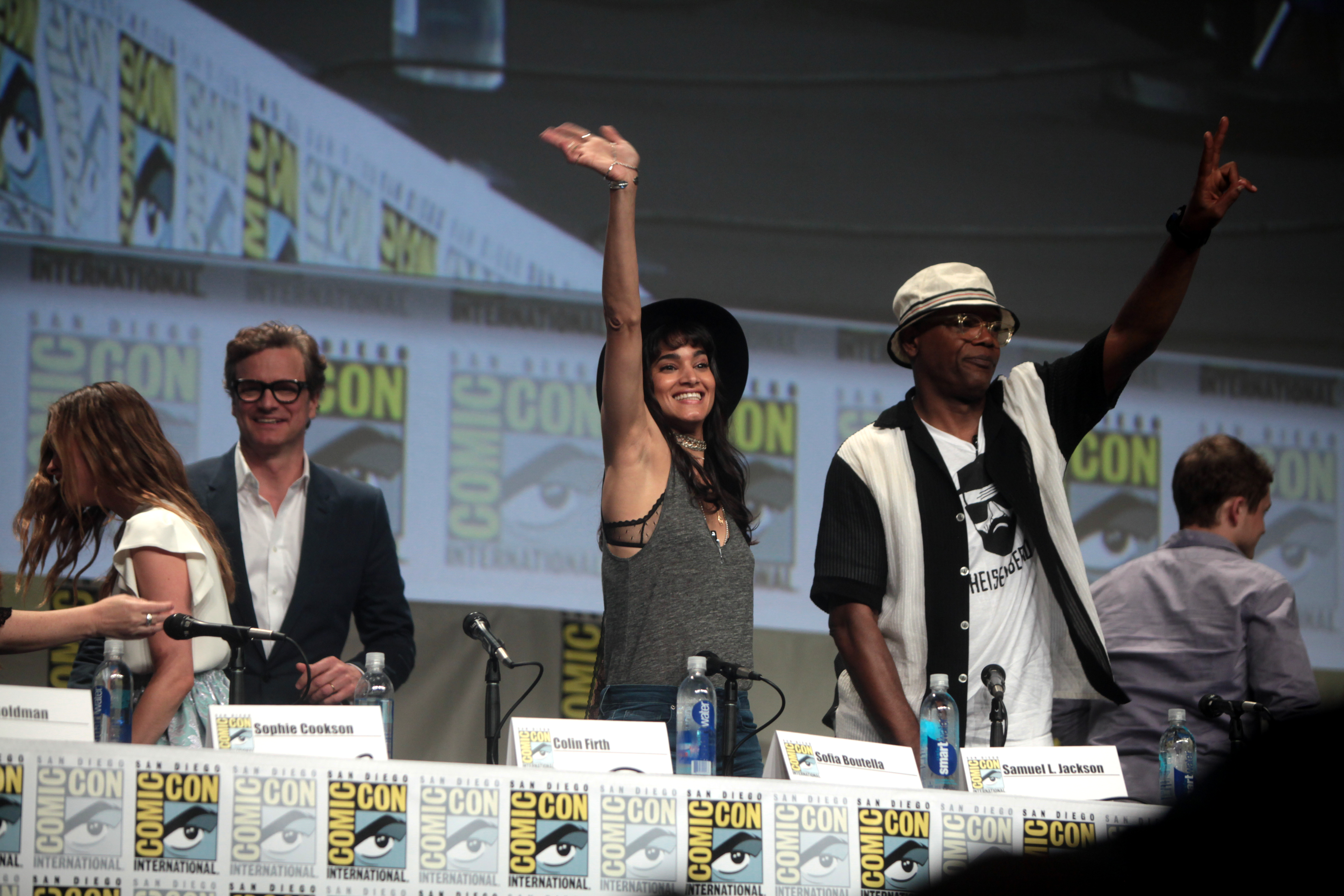 Sophie Cookson, Colin Firth, Sofia Boutella, Samuel L