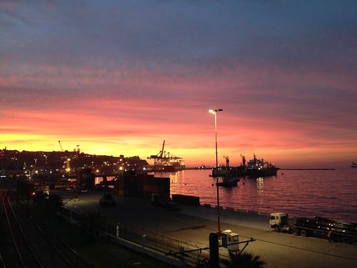 Atardecer en Valparaíso