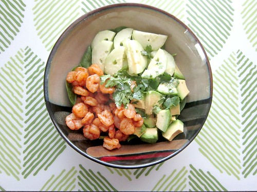 Shrimp and Avocado Salad with Miso Dressing 2