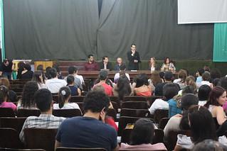 Representantes da Unemat integram mesa de abertura | Crédito: José Vitor Rezende Jr.