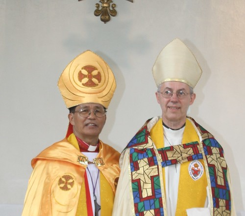 The Archbishop and Prime Bishop before the procession
