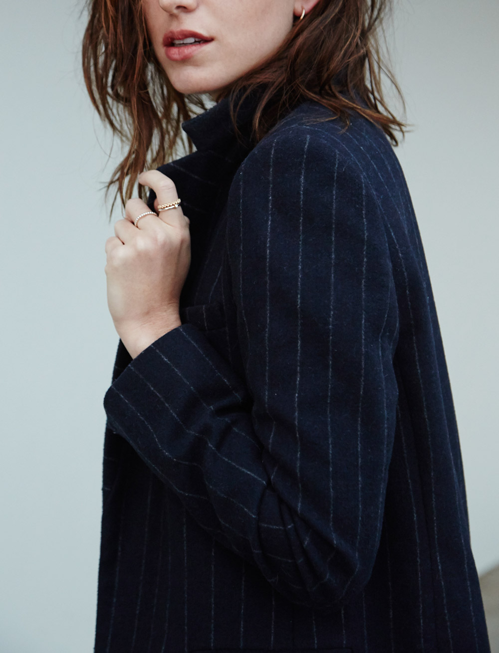 Winter style pinstripe coat Chronicles of Her 05