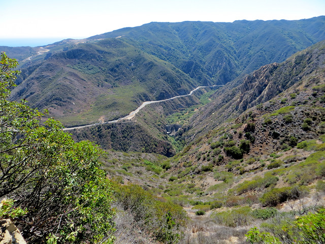 view of Malibu Cyn Rd from Piuma