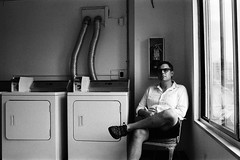 Self Portrait in Guest Laundry