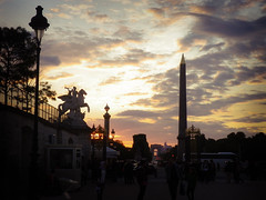 Sunset from the Tuileries