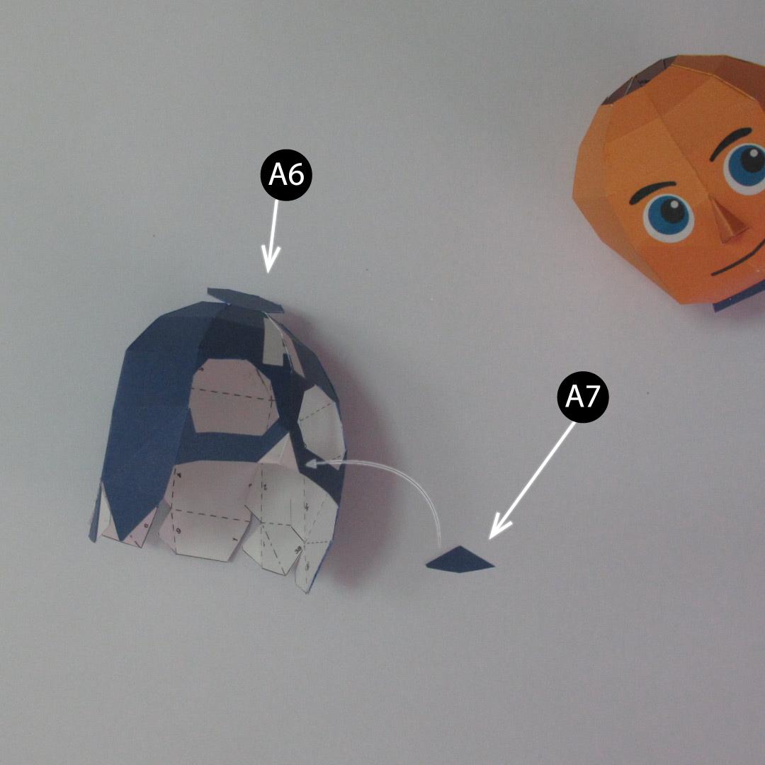 วิธีทำของเล่นโมเดลกระดาษกับตันอเมริกา (Chibi Captain America Papercraft Model) 004