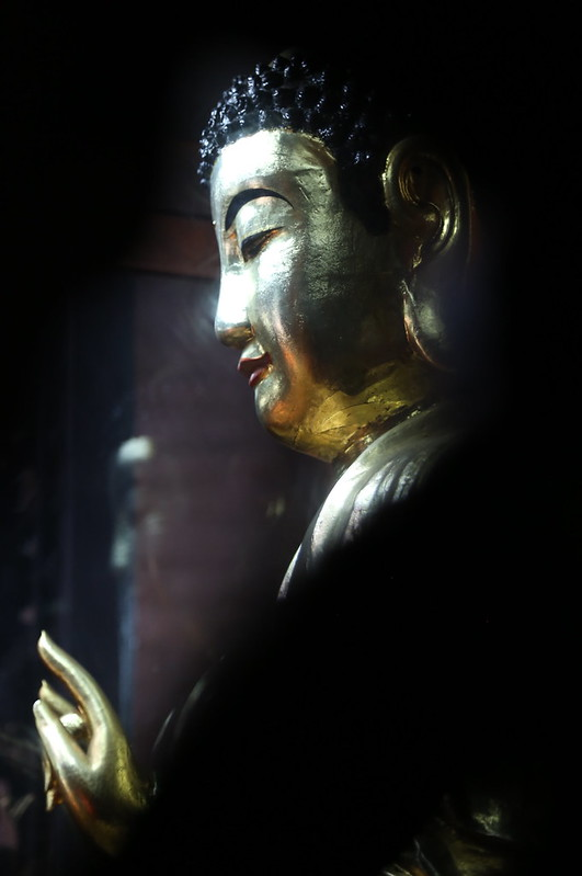 "Buddha statue in the multi-faith temple of Phước Hải Tự (福海寺, ""Luck Sea Temple"" ) in Saigon"