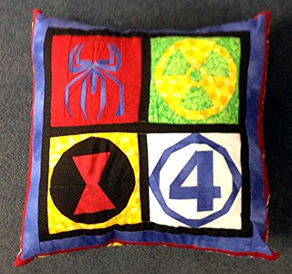 Throw pillow to go with Mikey's quilt.