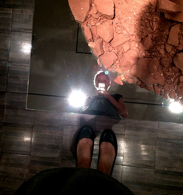 Nonsite by Robert Smithson, rubble and mirrors, Asian Art Museum Gorgeous exhibit