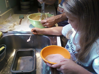 Making Amish Friendship Bread (Photo from Montessori Messy)
