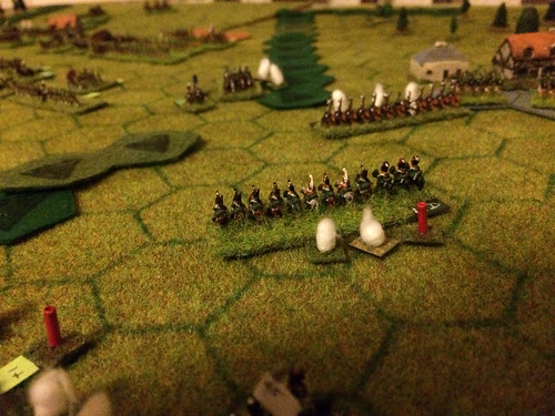 21 - A French Dragoon unit reforming after a charge against the Russian left flank