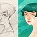Sketch+Digital for a cover. by -Laura Pérez-