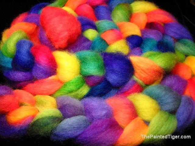 Tropical Rainbow Romney Roving