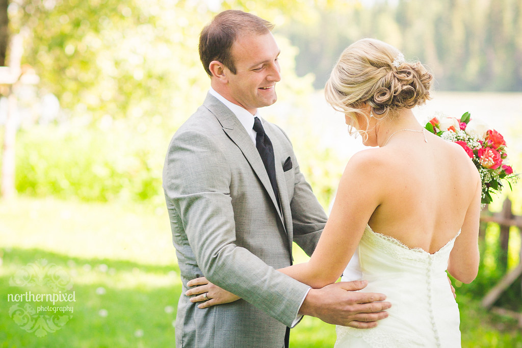 First Look Session - Huble Homestead Wedding