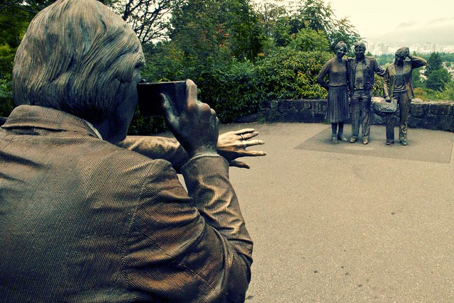 Statue of Photographer in Queen Elizabeth Park