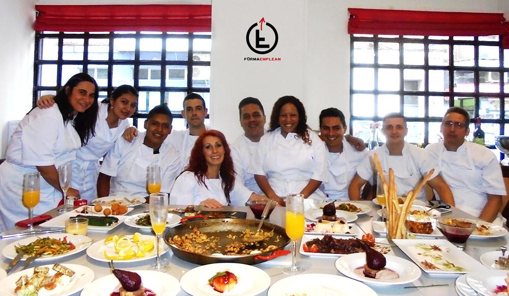 Grupo del Curso de cocina profesional