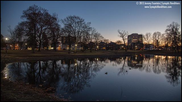 Sundown on Lincoln Pond
