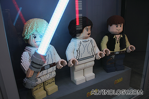 Luke Skywalker, Princess Leia and Han Solo.