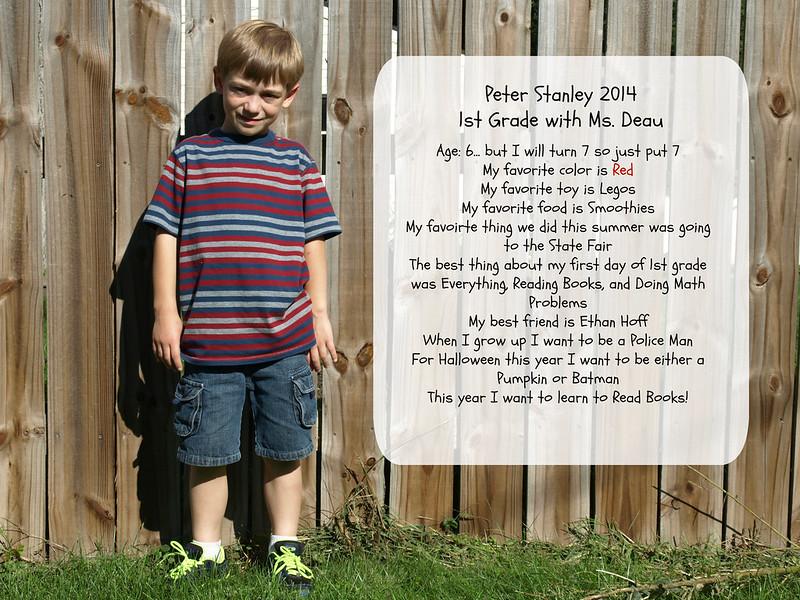 Peter 1st grade stats