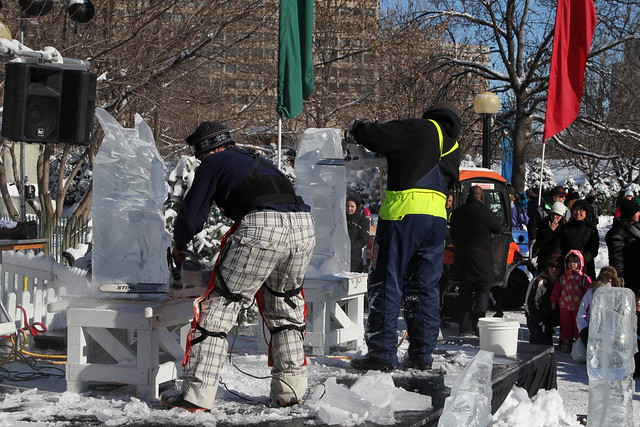 Ice Carving Contest in Ottawa