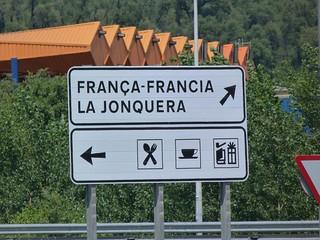 Cartel de la Junquera (frontera de España y Francia)