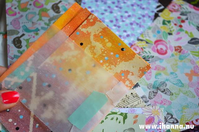 Painted papers by Jenny