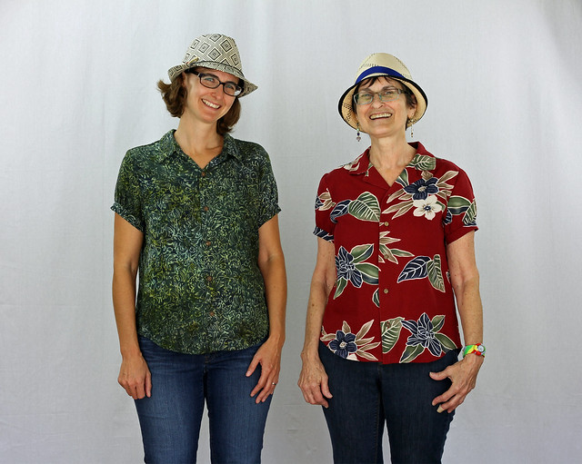 Refashion with Mom - Green and Red